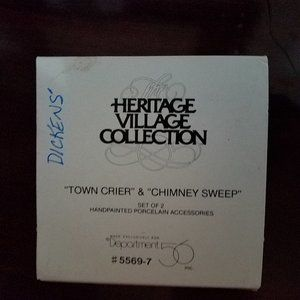 Dickens' Town Crier & Chimney Sweep  Dept56